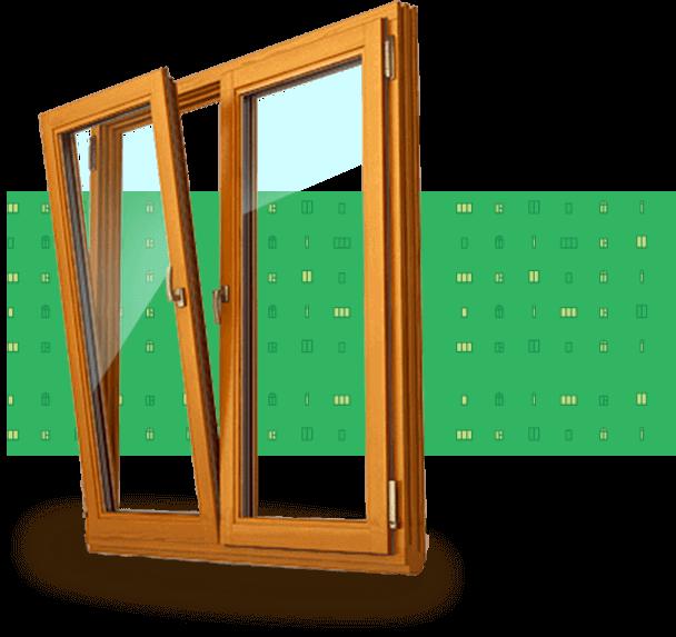 окно в деревянной раме