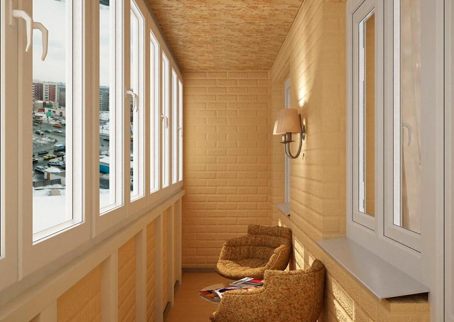 Остекление балконов пластиком (теплое)